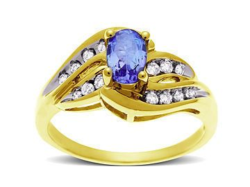 Tanzanite And Channel Set Diamond Accent Ring In 10K Gold  Glowing Tanzanite And Channel Set Diamond Accent Ring In 10K Gold  $290.36: Accent Rings, Gold Glow, Jewelry Com, 10K Gold, Glow Tanzanite, Tanzanite Rings, Channel Sets, Diamonds Accent, Sets Diamonds