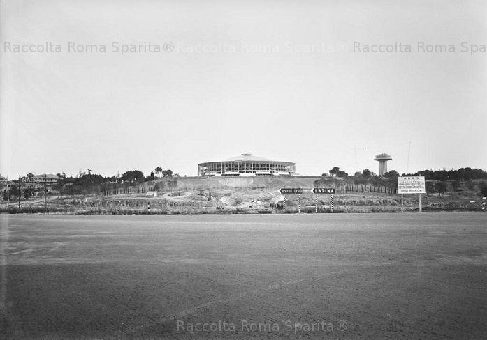 Foto storiche di Roma - EUR - Palazzo dello Sport Anno: 1958