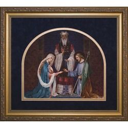 Wedding Of Joseph And Mary Matted W Gold Frame