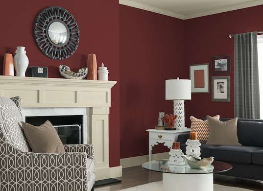 Experts Reveal The 9 Top Paint Colors For Fall. Red Living RoomsLiving Room  ... Part 14