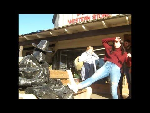 bronze cowboy statue prank! December 26 part 2