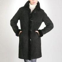 BGSD Women's Spanish Merino Shearling Walking Coat