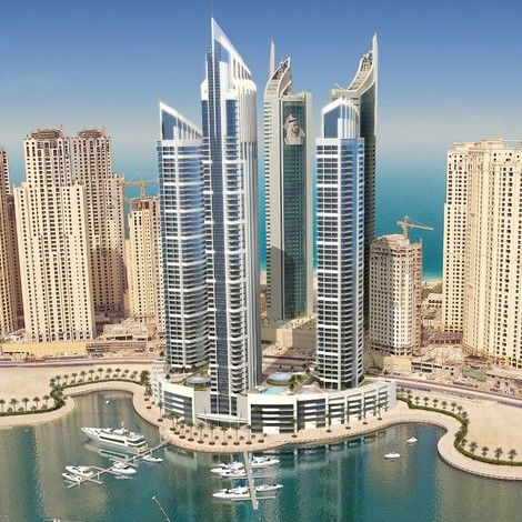 Intercontinental dubai marina opening late 2013 business for Unusual hotels in dubai