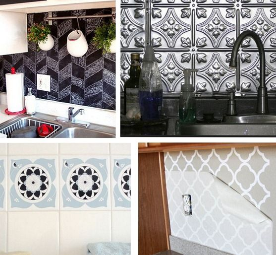 Covering Up A Nasty Backsplash And Other Handy Tricks For