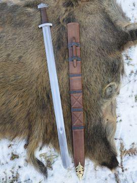 Wikingerschwert mit Scheide, schaukampftauglich