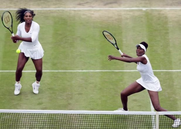 This just was not a good Olympic year for tennis champs Serena and Venus Williams.  Following Venus' disappointing loss to Belgium'sKirsten Flipkens in singles Saturday, the sisters were bested by their first-round doubles opponents, the Czech Republic's Lucie Safarova and Barbora Strycova, on Sunday