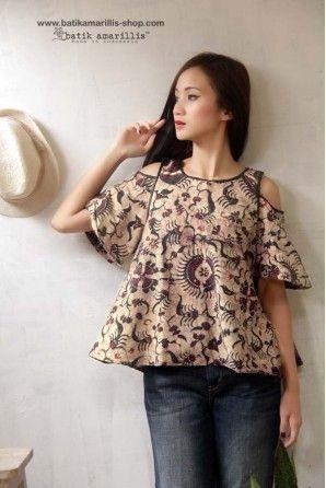 batik amarillis painter's blouse