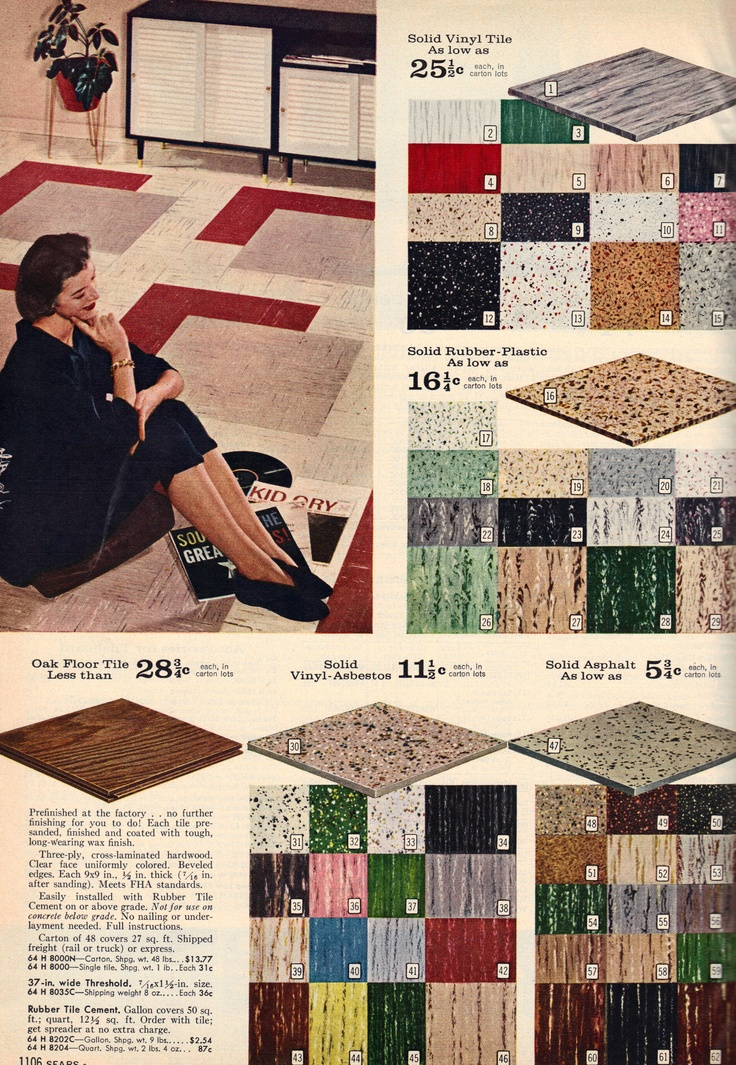 Mid century floor tiles from the fall winter sears for 1960s floor tiles
