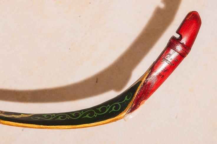 Grozer Tatar painted horn bow