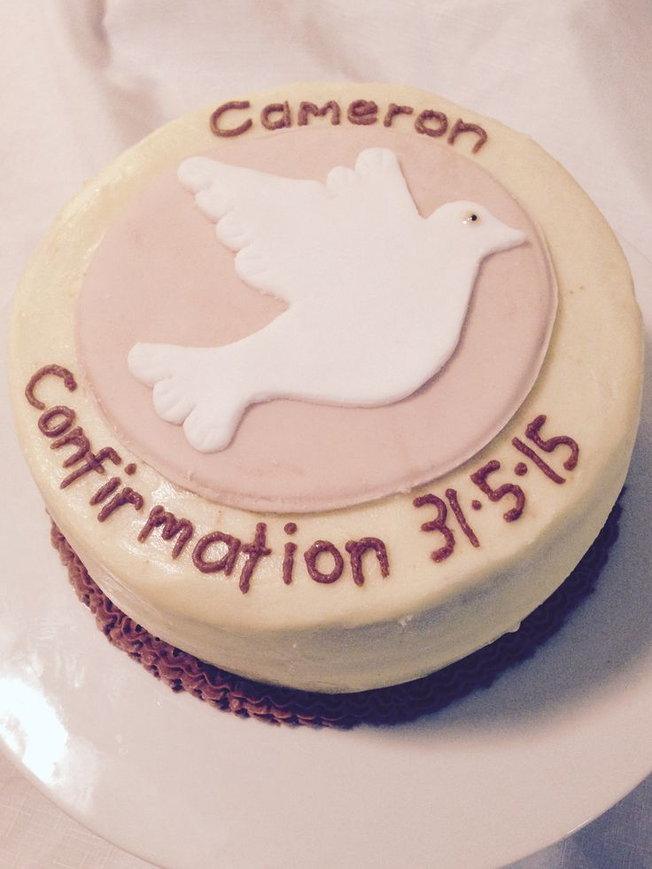 Cameron's Confirmation Cake