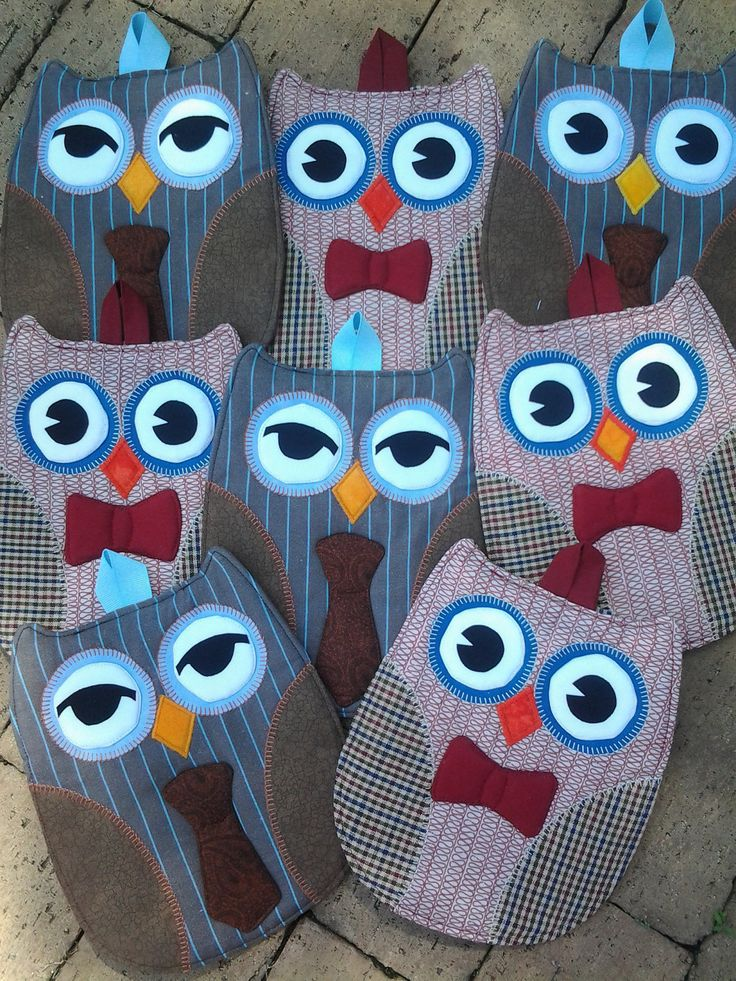 Doctor Who Owl Hot Pads - Set of 2. $22.00, via Etsy.