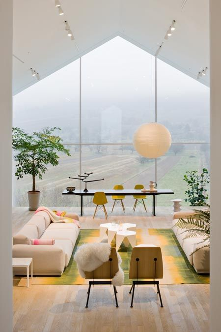 Actualization of a minimalist's dream. Light-filled space enhanced by soft colors.