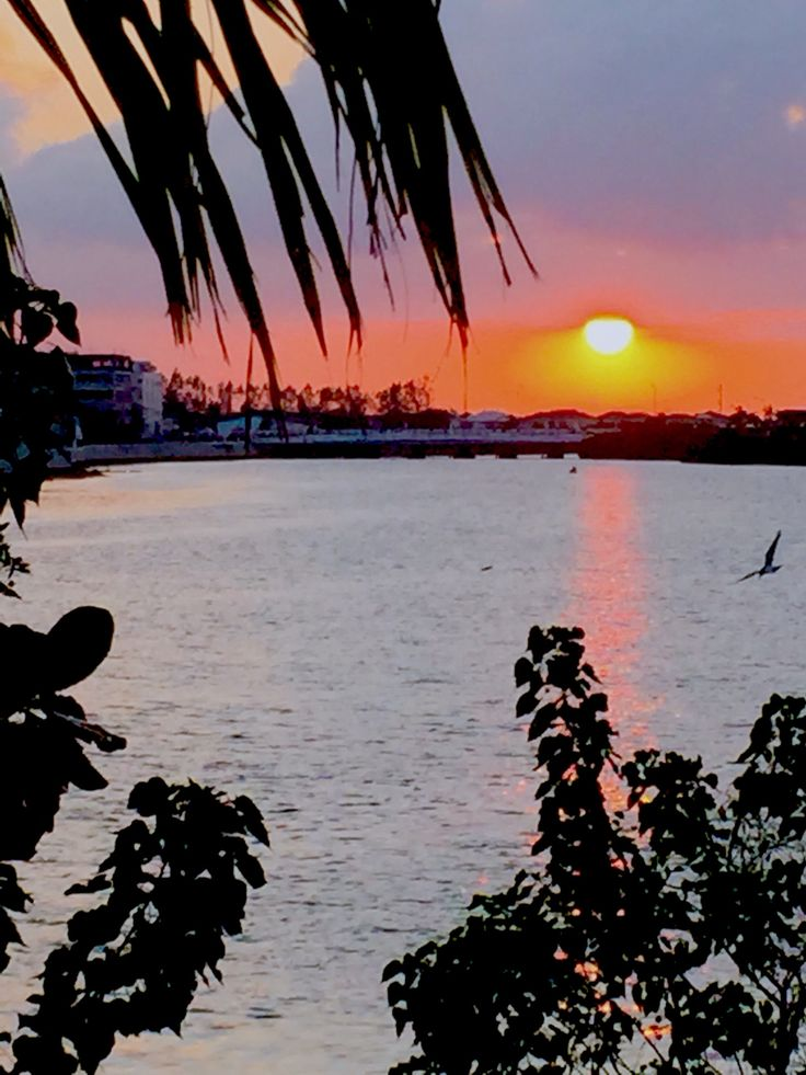 Sunset over Iloilo River - Iloilo City, Philippines