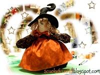 Scuola di cucito: La streghetta portasachetti di Halloween