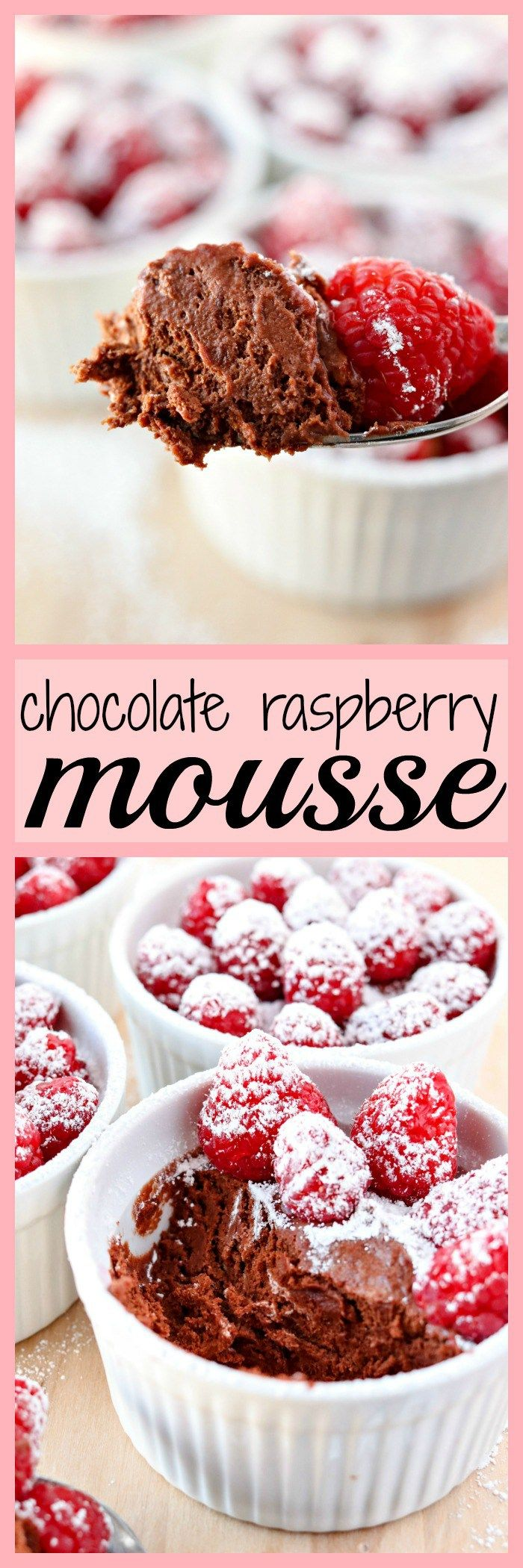 Chocolate Raspberry Mousse Mini Dessertschocolate Dessertseasy Dessertsdelicious Dessertsdessert Recipesromantic Dinner For Tworomantic