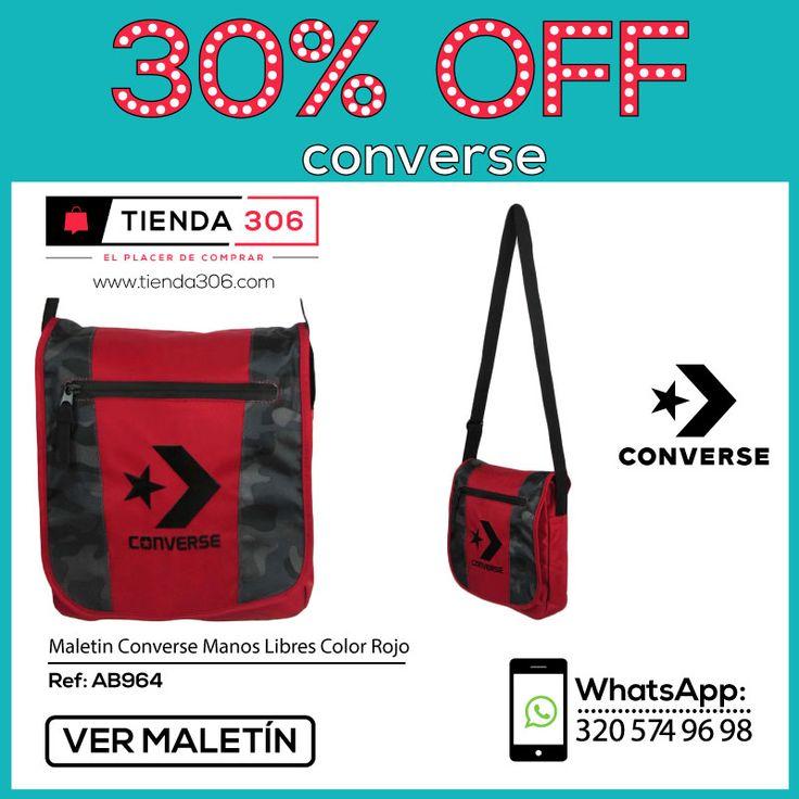 Comodidad y Estilo al Andar - Maletín Converse Manos Libres Rojo Ref.: AB964 📞 320 574 96 98 Ver Aquí:  http://bit.ly/2mGiiJE