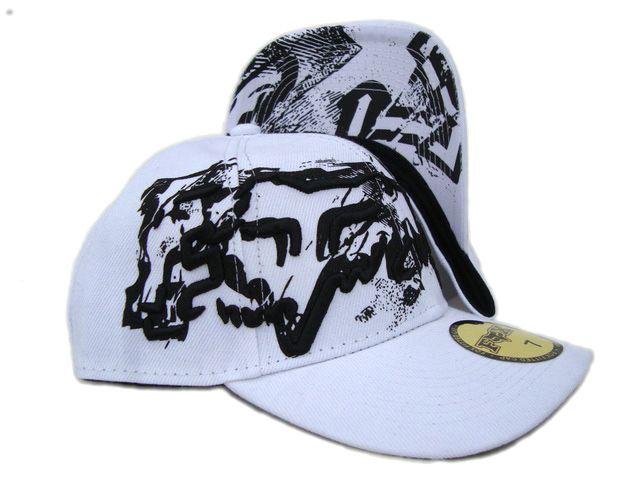 Levný Fox Racing White Vestavěná Hat 5 levných Klobouky ID 4878