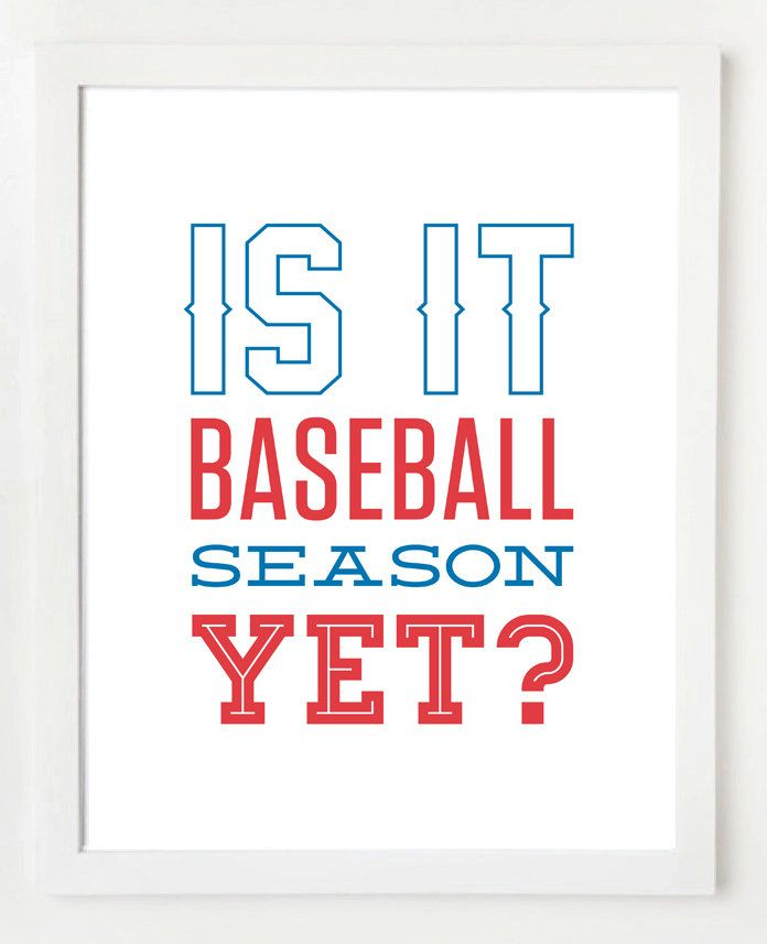 Yes it iiiiis! *dances* I can't wait for long weeknights during the spring and summer watching the games. ^.^