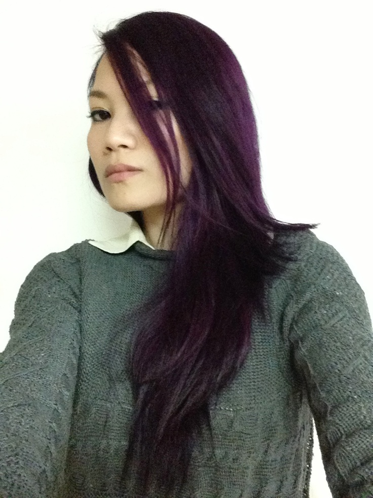 Eggplant Salonfree Hairdye Haircolor Colorhair Dyehair Diedhair DIYhai