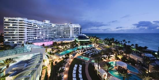 Love the Fontainebleau in Miami.  Beach + great restaurants