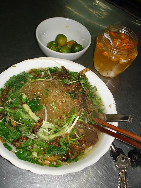 Grilled Eel Cassava Vermicelli - Miến Lươn Rán (Vietnamese food)