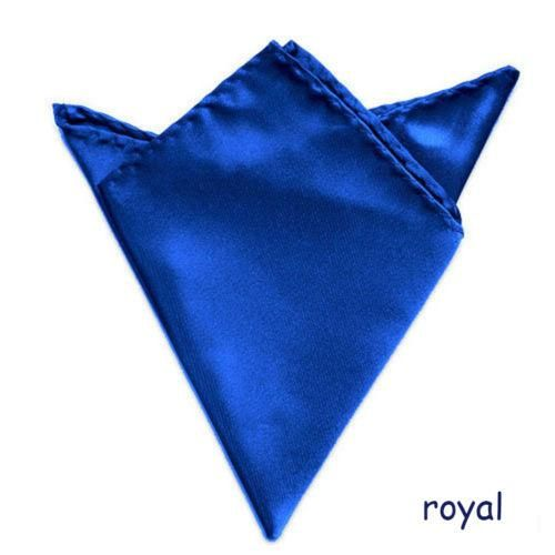 1PC Men Formal Silk Satin Pocket Square Hankerchief Hanky Plain Solid Color Wedd