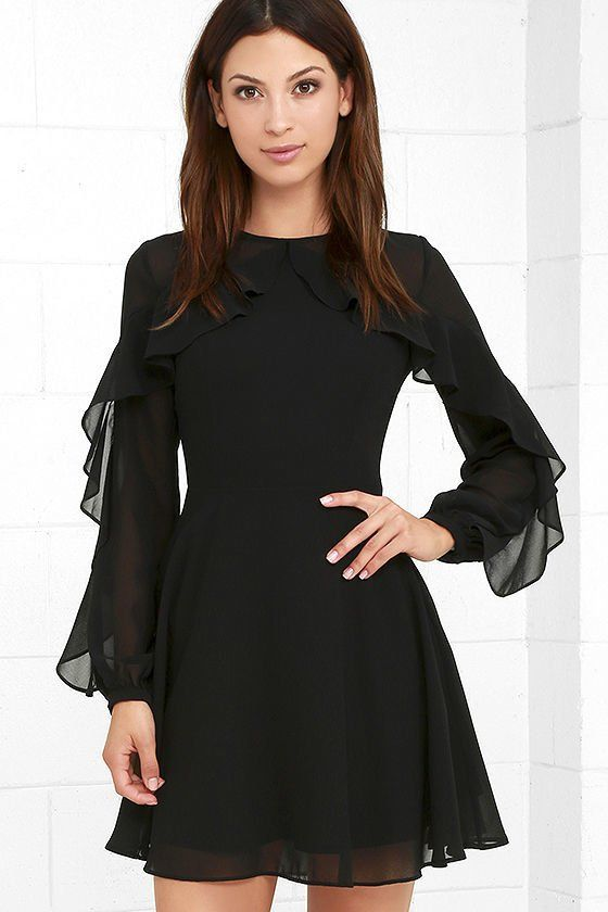 f8192a6b681 Image result for long black dresses funeral