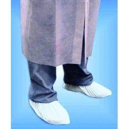 Cubrezapatos o cubrecalzado fabricado en plástico CPE. Medidas: 14 x 34 cm. Disponible en color blanco o azul. Se venden en paquetes de 100 unidades. http://www.ilvo.es/es/product/cubrezapatos
