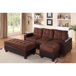 Flexsteel Sofa Furniture of America Sagel Reversible Sectional with Pull out Sleeper Sofa IdeasSectional SofaCouchOnline FurnitureAspen