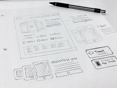 Landing page wireframe  by Kerem Suer
