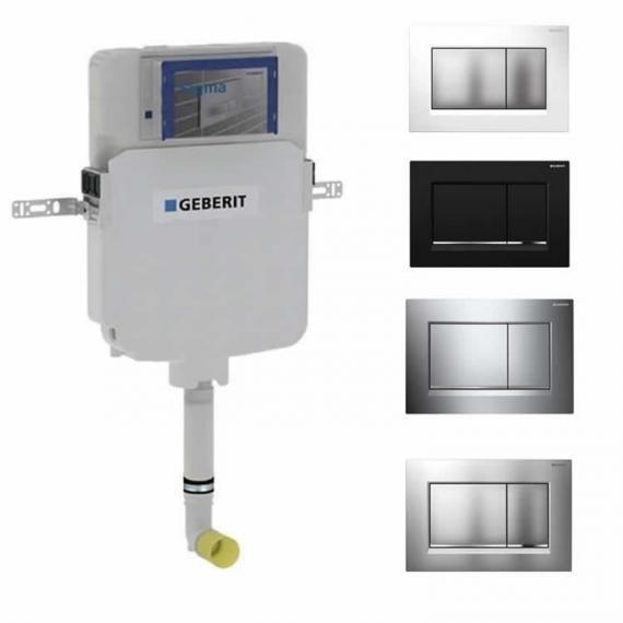 Geberit Sigma 8cm Reduced Concealed Cistern & Sigma 30 Flush Plate