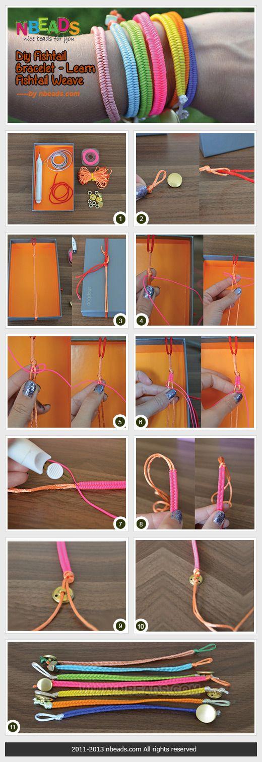 diy fishtail bracelet - learn fishtail weave