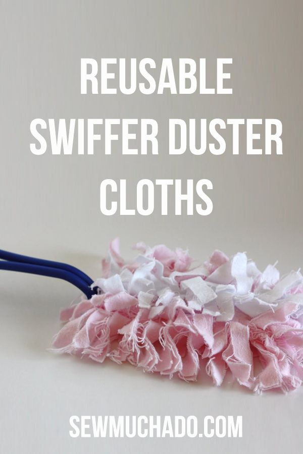 These reusable DIY swiffer duster cloths are eco-friendly unlike the disposable ones. Plus they save you money!