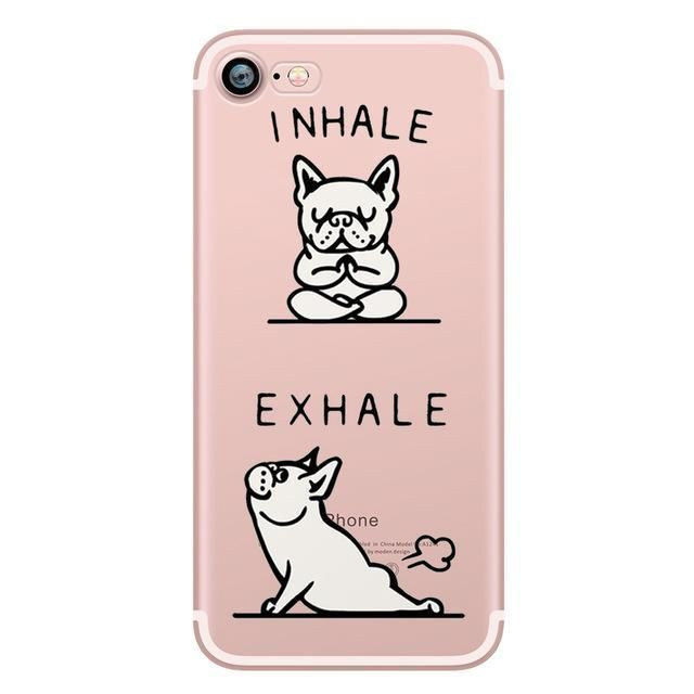 Cute Pug Puppy Soft Phone Case for iPhones