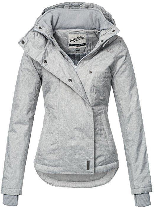 Sublevel Sportliche Damen Winter Jacke 46550D in Hellgrau Gr