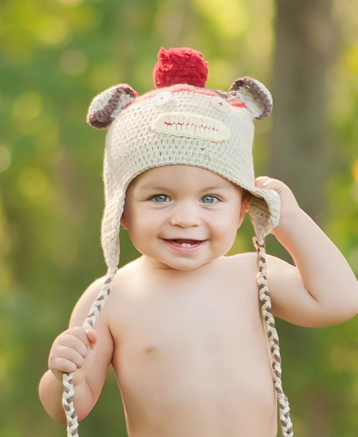 Homemade Monkey beanie by Rugged Butts    http://fairytails.kiwi.nz/collections/boys-hats/products/homemade-monkey-beanie