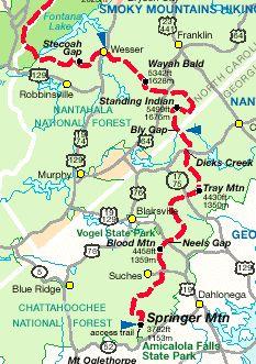 Appalachian Trail Planner website- includes georgia/north carolina