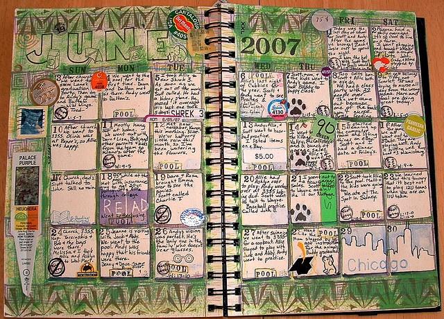 Calendar Art Journal : Best scrapbook ideas images on pinterest calendar