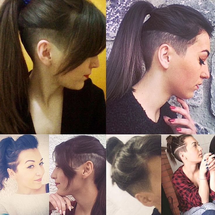 Image result for girls with undercut in ponytail