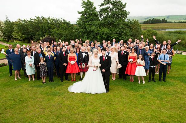 Big wedding: it was an emotional day for the guests.