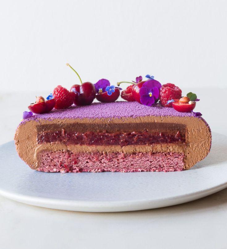 Муссовый вишневый торт рецепт с фото