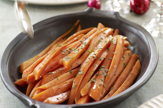How do you transform on-hand ingredients into a super side dish?  Follow our recipe for Balsamic-Glazed Carrots - tender carrots get a saucy glaze and you get a new favourite veggie side dish.