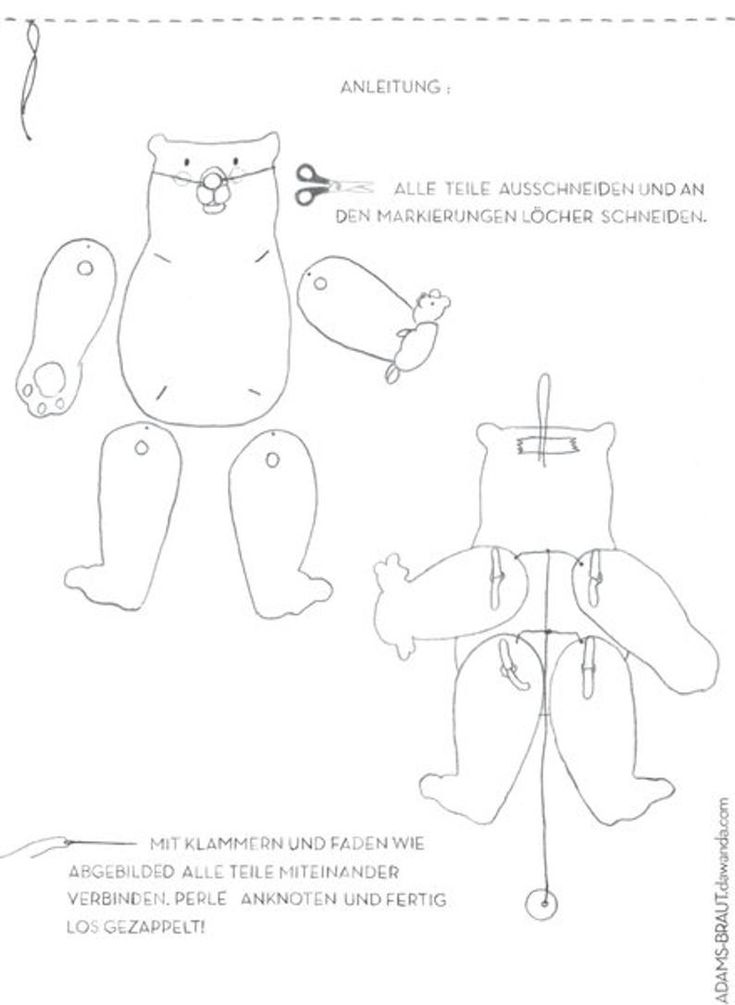 Pin on articulate jointed jumping jacks paper doll puppet