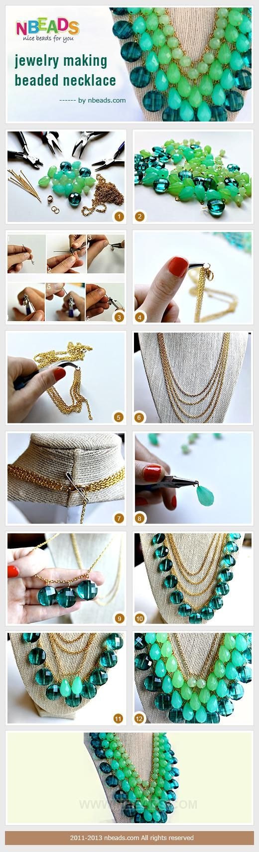 DIY Tutorial: craft tutorials / Beaded Necklace - Bead&Cord