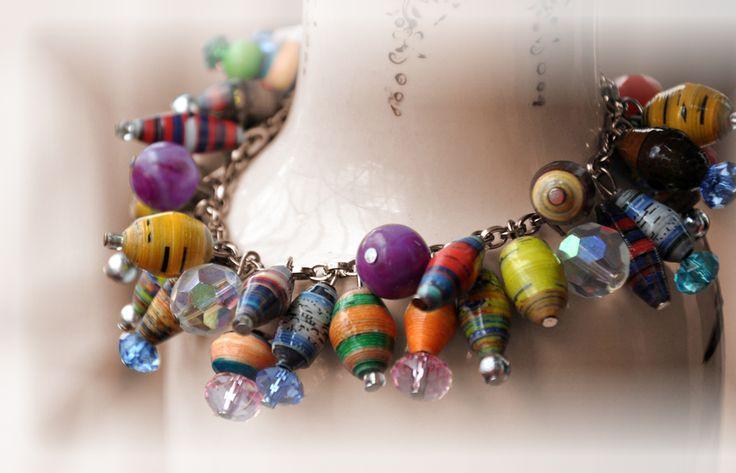 handmade paper beaded jewellery - Google Search