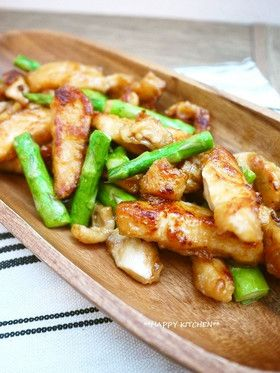 Chicken and Asparagus with Chinese sauce ぷりぷり!鶏むね肉とアスパラの中華炒め