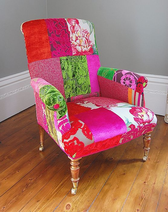 reupholstered vintage chair - Google Search