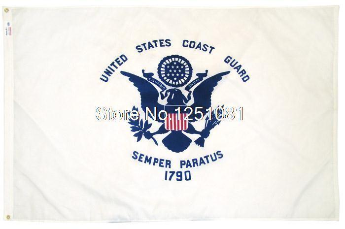 Флаг Сша Береговая Охрана 3ft x 5ft Полиэстер Береговой Охраны США Флаг Развевается Размер № 4 144*96 см QingQing Флаг