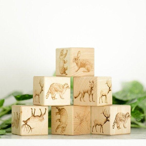 Noc Noc - Organic Wooden Woodland Blocks
