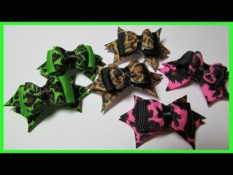 DIY - Dog Hair Bows No.8 - How to make spiked hair bows, My Crafts and DIY Projects